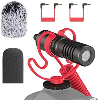 simorr Universal Video Microphone Compact On-Camera...