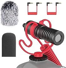 Simorr Micrófono de vídeo universal, micrófono de cámara de escopeta, micrófono externo para iPhone Android, para Sony para Canon DSLR - Wave S1 3288