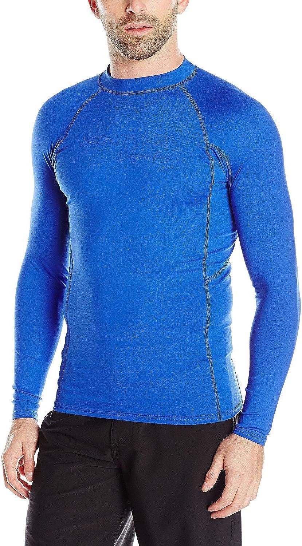 Phantom Aquatics Men's UV Protection Long Sleeve Rash Guard - Blue - Small