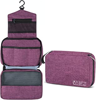 Hanging Toiletry Bag, Hizek Portable Travel Toiletry Bag Waterproof Large Capacity Cosmetic Organizer for Women with 4 Com...