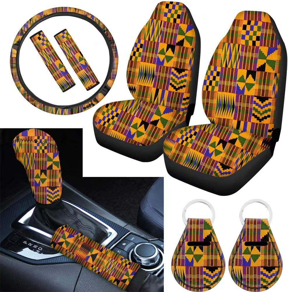 BIGCARJOB Full Set of 9 National uniform free shipping Pieces Ethnic African New products world's highest quality popular Car Print S Tribes