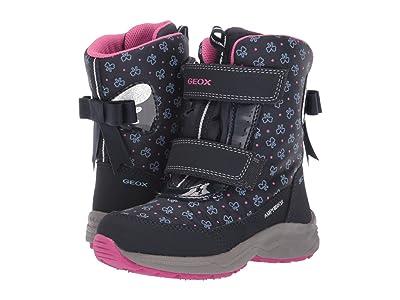 Geox Kids Jr Kuray ABX Waterproof 1 (Little Kid) (Navy) Girls Shoes
