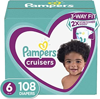Diapers Size 6 (108 Count) - Pampers Cruisers Disposable Baby Diapers, ONE MONTH SUPPLY
