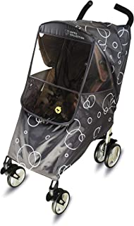Hippo Collection Universal Stroller Weather Shield Rain Cover With Bubble - Gray