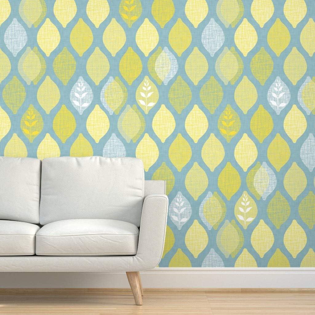 Wallpaper Roll Mid Century Lemons Fruit Trees Citrus Summer 24in x 27ft