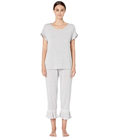 Kate Spade New York Modal Jersey Long Pajama Set (Grey Heather) Women