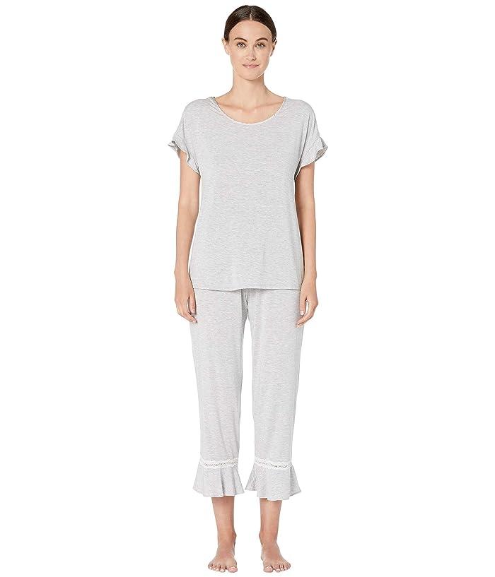 Kate Spade New York Modal Jersey Long Pajama Set (Grey Heather) Women