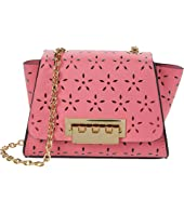 Eartha Mini Chain Crossbody - Floral Perforation