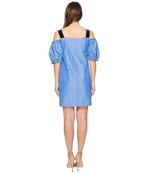 Cold corta Sportmax Puff Cina claro azul vestido manga Shoulder Z1qSvwA