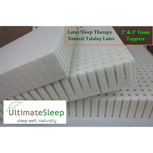 Queen Original Talalay Latex Mattress Pad Toppers: 2