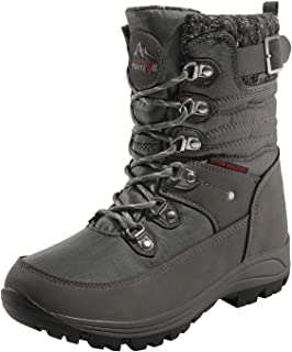 NORTIV 8 Women's Insulated Snow Boots Warm Faux Fur Cold Weather Winter Boots