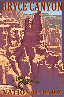 Bryce Canyon National Park, Utah - Scene #1 (9x12 Fine Art Print, Home Wall Decor Artwork Poster)