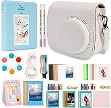 Alohallo 15 in 1 Instax Mini 9 Camera Accessories Set for Fujifilm Instax Mini 9/ Mini 8/ Mini 8+ Camera - White A