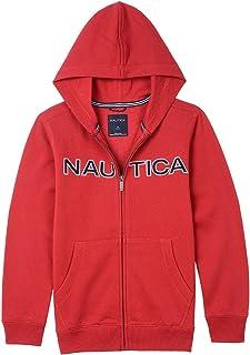 Nautica 男童全拉链经典标志羊毛连帽衫