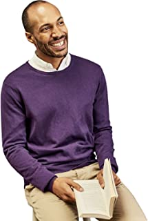 WoolOvers Mens Silk and Cotton Crew Neck Jumper
