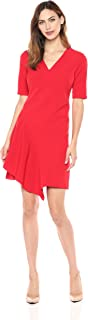 Women's Dream Crepe Fit and Flare with Cascade Skirt and Sleeve