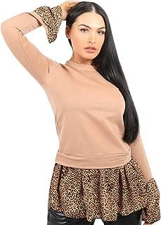 Momo&Ayat Fashions Ladies Leopard Print Hem Shirt Detail Top AUS Size 6-14