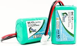 2X Pack - DC-17 Battery for SportDog SD-400, SD-800, FR200 Dog Training Collars (150mAh, 4.8V, NI-MH)
