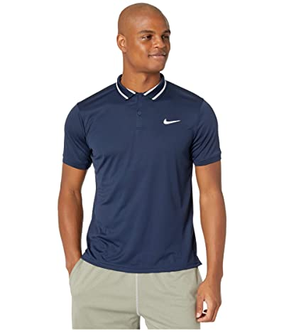 Nike NikeCourt Dry Polo Pique (Obsidian/White/White) Men