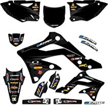 Senge Graphics kit compatible with Kawasaki 2019 KLX 140 & 140L, Mayhem Black Graphics Kit (Complete)