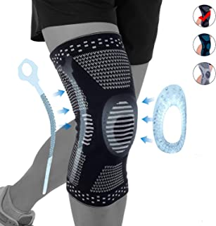 NEENCA Professional Knee Brace Compression Sleeve,Sports Knee Support with Silicone & Spring Stabilization for Men Women,Medical Grade Knee Protector for Meniscus Tear Arthritis Sports