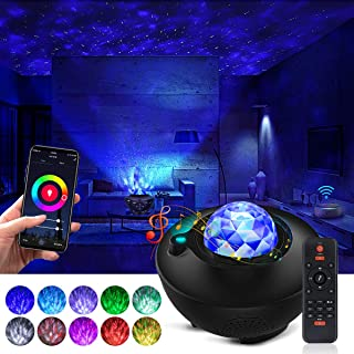 Smart Star Projector Night Light Projector with Bluetooth Music Speaker and Remote Control Work with Alexa Google Home Galaxy 360 Pro Galaxy Light Star Lights for Baby Kids Adults Bedroom/Party