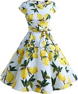 e8fb19acee2d Dressystar Women Vintage 1950s Retro Rockabilly Prom Dresses Cap-Sleeve