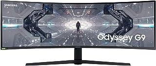 サムスン Odyssey G9 C49G95T (5120 x 1440) 49インチ スーパーウルトラワイドゲームモニター, 32:9 大画面, 走査率240Hz /ブルーライトカット/フリッカーフリー/2020新モデル [並行輸入品]