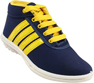 Claptrap Boys Lace Sneakers Blue, Yellow