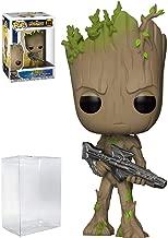 Funko Pop! Marvel: Avengers Infinity War - Teen Groot with Gun Vinyl Figure (Bundled with Pop Box Protector Case)
