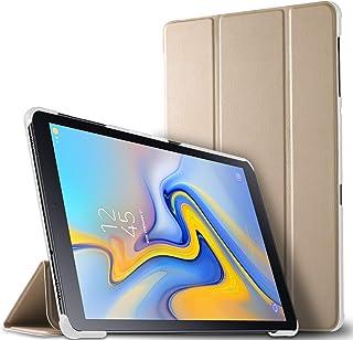 Luibor Estuche Tableta Samsung Galaxy Tab A 10.5 2018 SM-T590/SM-T595 - Estuche Cubierta Elegante Delgado Estuche de Piel Ultra Ligero Tableta Samsung Galaxy Tab A 10.5 2018 SM-T590/SM-T595 (Oro)