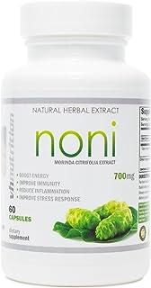 Noni Capsules | 700mg Morinda citrifolia Extract Pills | Promotes Healthier Skin, Hair, and Nails | Potent Natural Antioxi...
