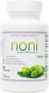 Noni Capsules | 700mg Morinda citrifolia Extract Pills | Promotes Healthier Skin, Hair, and Nails | Potent Natural Antioxidant | VH Nutrition | 30 Day Supply