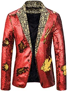 Men Casual Blazer Slim Fit Paisley Floral Jacquard Suit Coats Chic Dinner Jackets for Wedding Prom Tuxedo