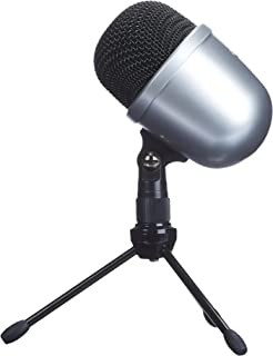 AmazonBasics Desktop Mini Condenser Microphone With Tripod - Silver