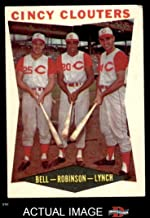 1960 Topps # 352 Cincy Clouters Gus Bell / Frank Robinson / Jerry Lynch Cincinnati Reds (Baseball Card) Dean's Cards 3 - VG Reds