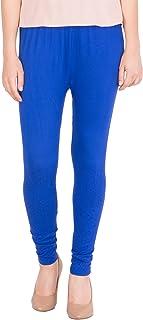 American-Elm Women's Cotton Viscose Ankle Length Legging- Blue