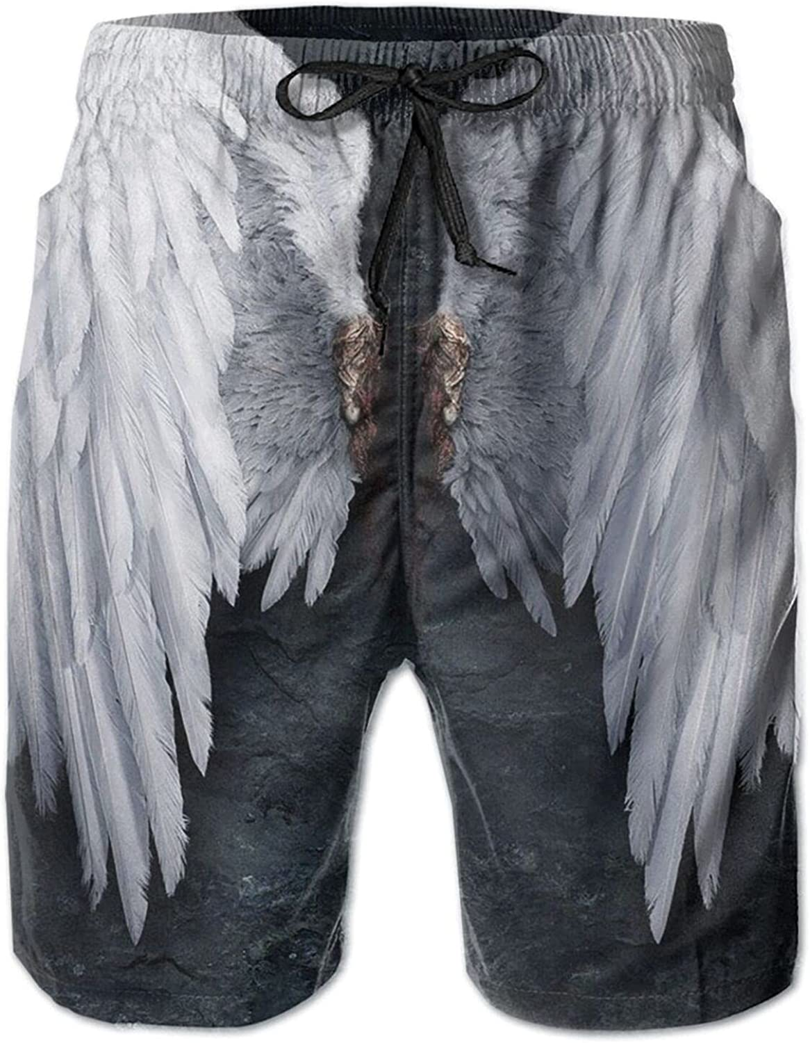 Yt92Pl@00 Men's 100% Polyester Feathered Angel Wings of Ranking TOP10 Max 45% OFF Beachwea