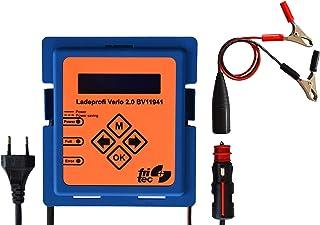 fritec Ladeprofi Vario 2.0 Batterieladegerät. Hergestellt und entwickelt in Deutschland. Für alle 12 V Fahrzeugbatterietypen.