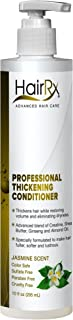 HairRx Professional Thickening Conditioner with Pump, Jasmine Scent, 10 Ounce