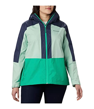 Columbia Plus Size Windgatestm Jacket (Dark Lime/New Mint/Nocturnal) Women