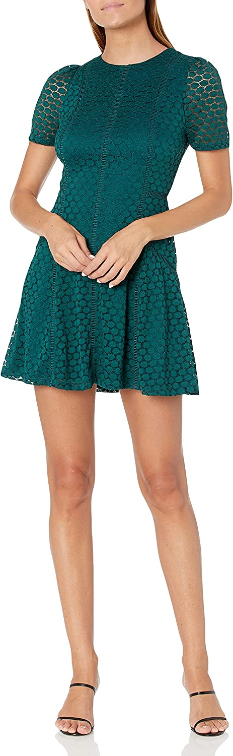 Ali & Jay Women's So Much to Give Short Sleeve Lace Mini Dress