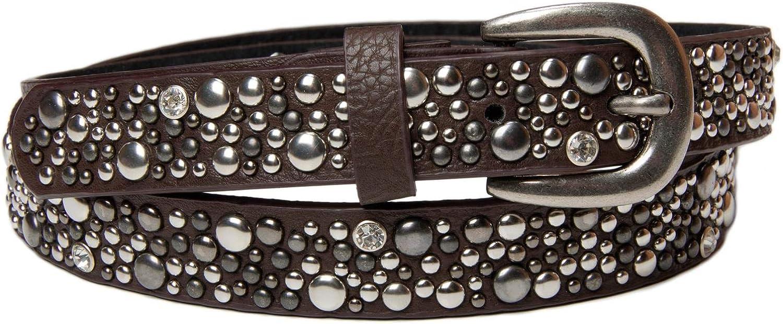 Perlen und Strass k/ürzbar Vintage Nieteng/ürtel Damen 03010086 styleBREAKER schmaler G/ürtel mit Nieten