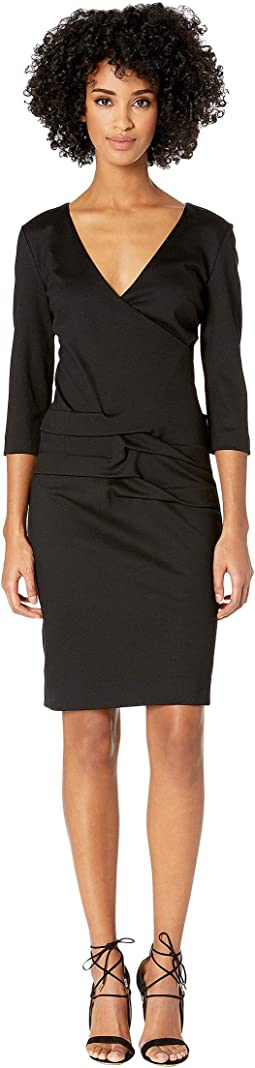 8b0336d27 Nicole miller structured heavy jersey neck tie dress