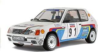 Solido S1801703 421185050-1:18 Peugeot 205 Rallye, 1989, Modelo de Coche, Multicolor