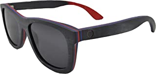 Skateboard Wooden Sunglasses, Wood Sun Glasses with Polarized Lenses