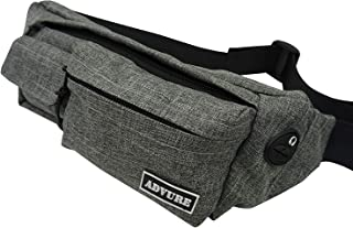 Fanny Pack – Durable Travel Bag – Unisex Waist Pack – Lightweight and Compact Running Pack – Waterproof Outer Layer and Zippers – Adjustable Length – 4 Compartments – Wide Application