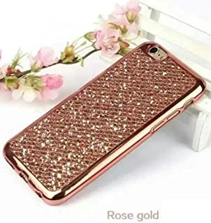 Galaxy S6 Edge Plus Shiny Case,OMORRO Glitter Bling Attractive Back Plated Bumper Ultrathin Anti-Scratch Soft Protect Skin Case Cover for Samsung Galaxy S6 Edge Plus Rose-Gold