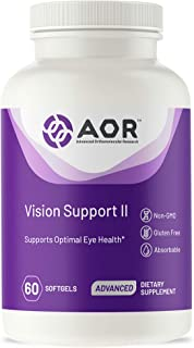 AOR, Vision Support II, Natural Supplement to Support Eye Health, with Lutein and Zeaxanthin, Gluten Free, 60 Capsules (30...