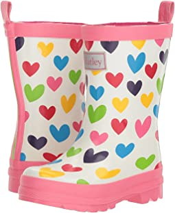 Hatley Kids - Rainbow Hearts Rain Boots (Toddler/Little Kid)